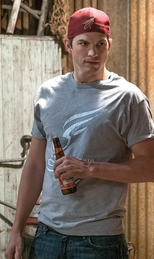 Ashton Kutcher with Budweiser The King of Beers in The Ranch