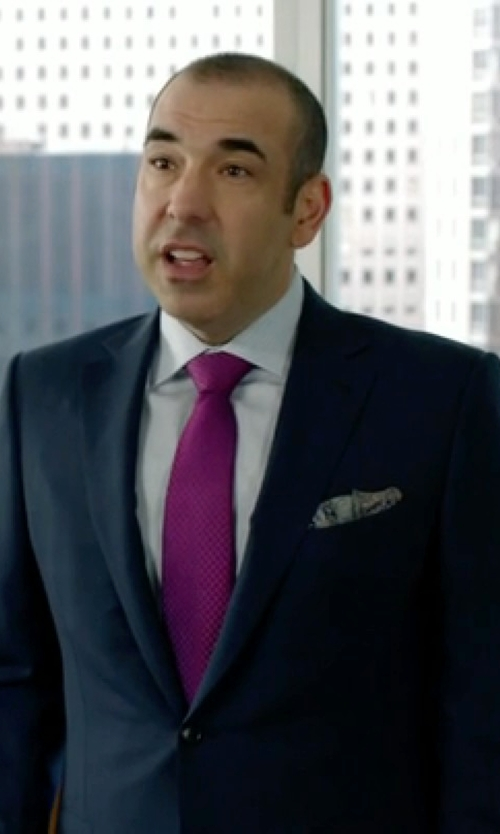 Rick Hoffman with Ralph Lauren Black Label Anthony Track-Stripe Suit in Suits