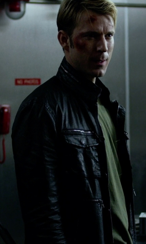 Wil Traval with Urban Outfitters Faux-Leather Moto Jacket in Jessica Jones