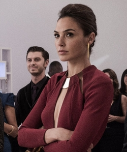 Gal Gadot with Elie Saab Asymmetric Open-Back Side-Slit Gown in Batman v Superman: Dawn of Justice