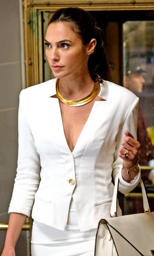 Gal Gadot with J.Crew Regent Blazer in Batman v Superman: Dawn of Justice