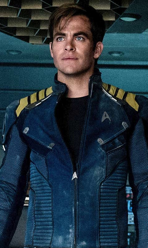 Chris Pine with Sanja Milkovic Hays (Costume Designer) Custom Made Captain Kirk Starfleet Jacket in Star Trek Beyond