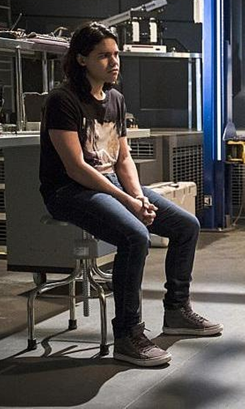 Carlos Valdes with Supra Vaider High-Top Sneakers in The Flash
