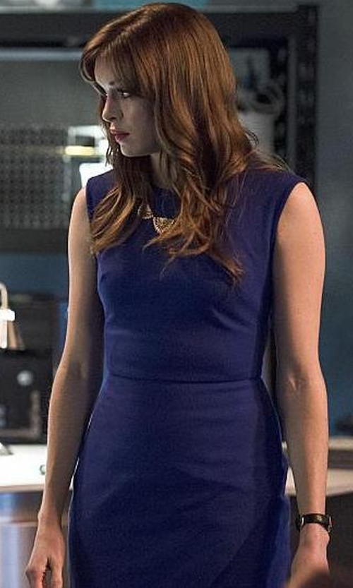 Danielle Panabaker with Seiko Leather Strap Watch in The Flash
