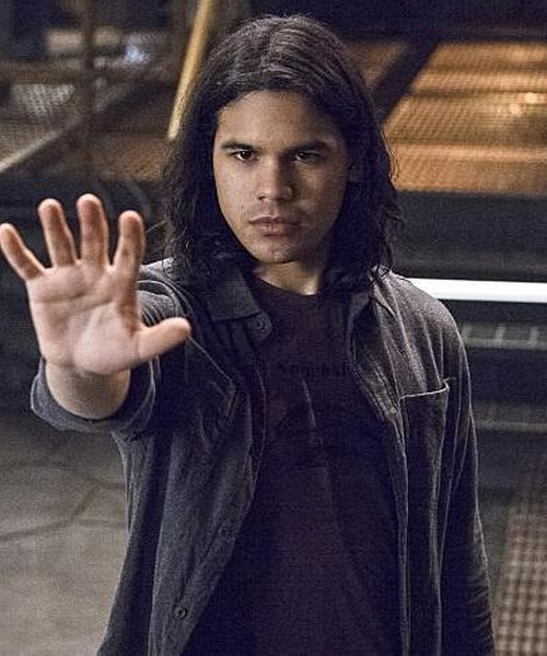 Carlos Valdes with Chalayan Zipped Shirt Jacket in The Flash