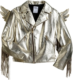 Leather Biker Fringe Winged Jacket by Jeremy Scott X Adidas Originals in Popstar: Never Stop Never Stopping