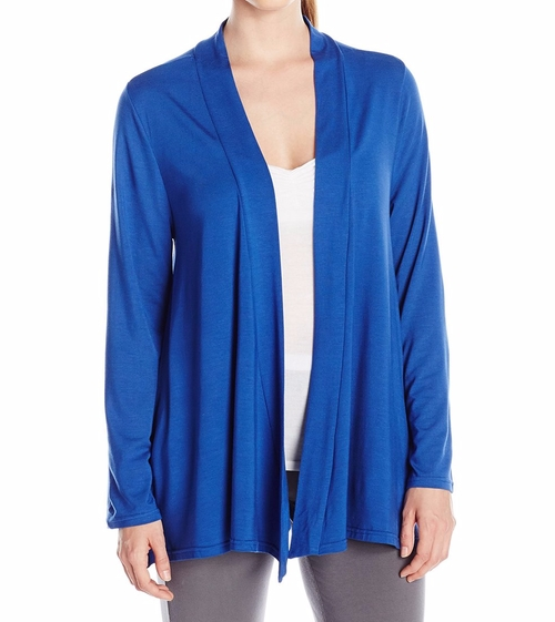 Draped Open Front Cardigan by Shadowline in Grace and Frankie - Season 2 Episode 5