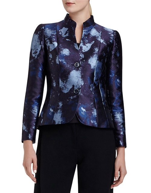 Patterned Two-Button Jacket by Lafayette 148 New York in The Good Wife - Season 7 Episode 5