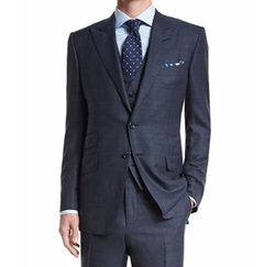 O'Connor Base Prince of Wales Three-Piece Suit by Tom Ford in Billions