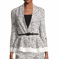Splatter-Print Peplum Jacket by Carolina Herrera in The Good Fight