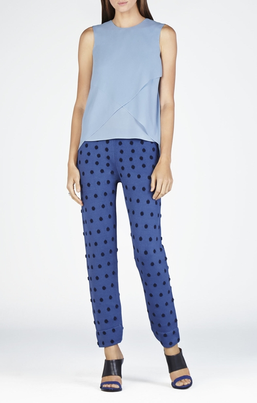 Lorielle Asymmetrical Drape Top by BCBGMAXAZRIA in Pretty Little Liars - Season 6 Episode 9