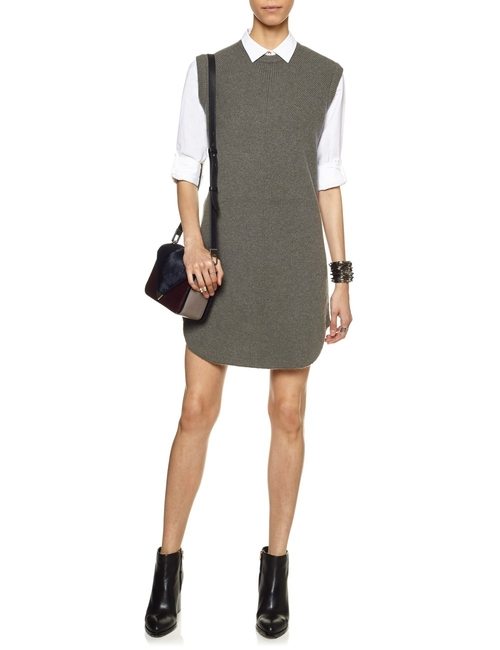 Grey Wool Oversized Tank Dress by Alexander Wang in The Flash - Season 2 Episode 9