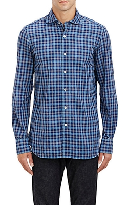 Windowpane-Plaid Shirt by Finamore in Brooklyn Nine-Nine