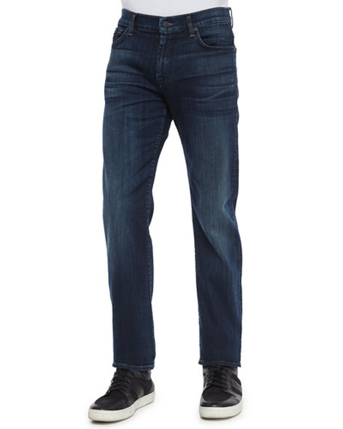 Standard-Fit Marine Denim Jeans by 7 For All Mankind in Modern Family - Season 7 Episode 7