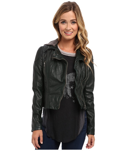 Hooded Vegan Moto Jacket by Free People in Quantico - Season 1 Episode 8