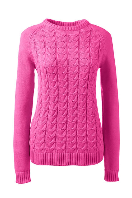 Women's Petite Drifter Cable Sweater by Land's End in Unbreakable Kimmy Schmidt - Season 2 Episode 3
