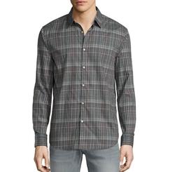 Plaid Slim-Fit Sport Shirt by John Varvatos Star USA in Riverdale