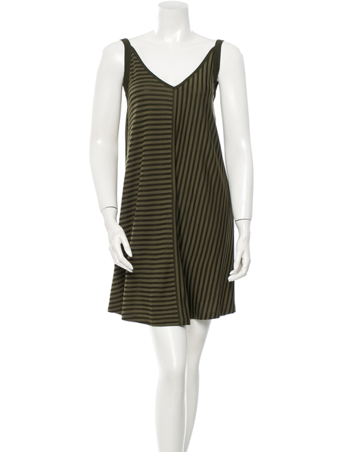 Sleeveless V-Neck Stripe Dress by Sandro in Pretty Little Liars - Season 6 Episode 20
