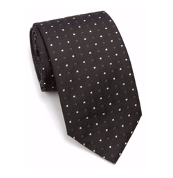 Square Circle-Print Silk Tie by Vitaliano in Billions