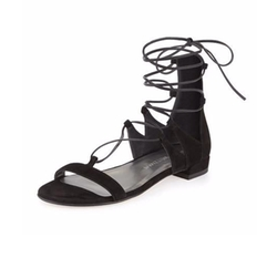 Tieup Suede Flat Gladiator Sandals by Stuart Weitzman in Valerian and the City of a Thousand Planets