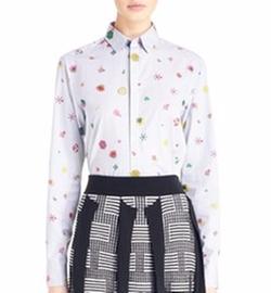 'Tanami Flower' Cotton Poplin Shirt by Kenzo in Scream Queens
