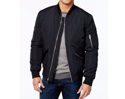 Men's Lined Bomber Jacket by Vince Camuto in Animal Kingdom