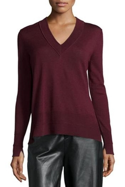 Burgundy Long Sleeve Sweater by Rag & Bone in Modern Family