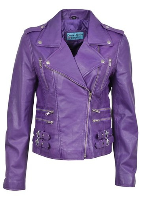 Biker Style Nappa Leather Jacket by Mistique in Jem and the Holograms