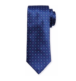Alternating Dots Silk Tie by Canali in Jason Bourne