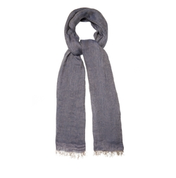 Chevron Linen Scarf by Brunello Cucinelli in Empire