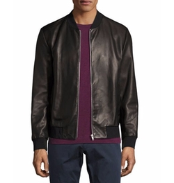 Kelleher Brant Leather Bomber Jacket by Theory in Power