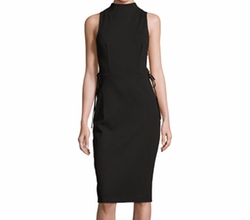 Sleeveless Laced Stretch Crepe Dress by Kendall + Kylie in The Layover