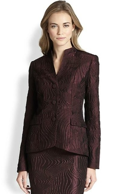 Andy Scroll Jacquard Jacket by Lafayette 148 New York in The Good Wife