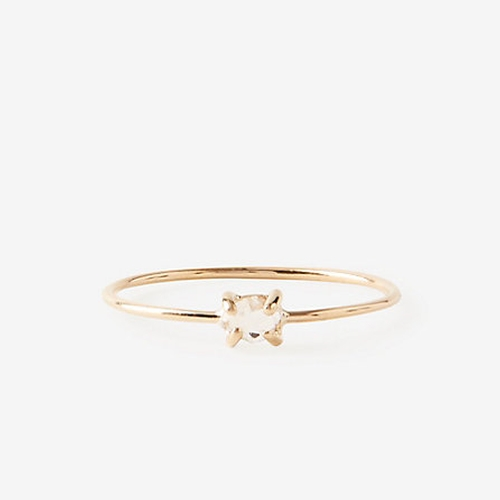 Herkimer Diamond Ring by Kristen Elspeth in Daddy's Home