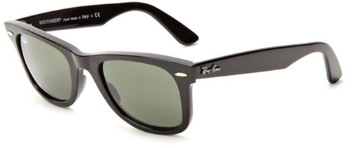 Original Wayfarer Sunglasses by Ray-Ban in Easy A
