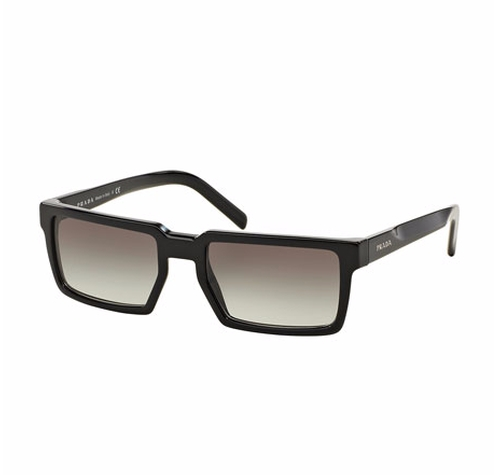 Thick-Rim Rectangular Sunglasses by Prada in Fast 8