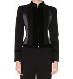 Zip-Front Fitted Combo Jacket by Giorgio Armani in The Good Fight