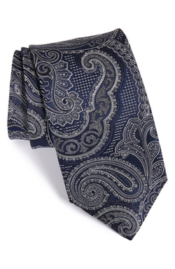 Paisley Silk Tie by Canali in The Good Wife