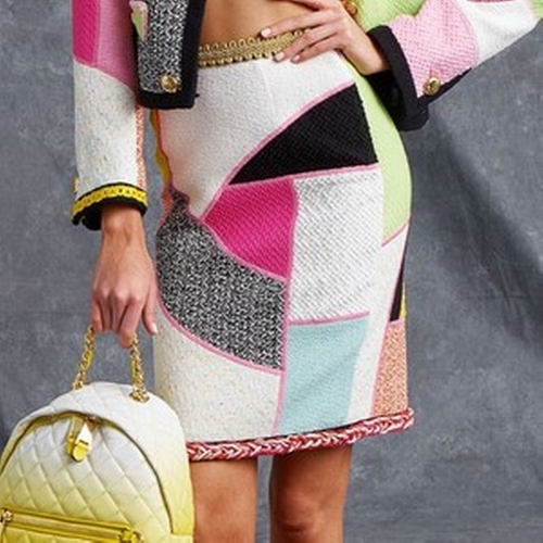 Resort 2016 Patchwork Pencil Skirt by Moschino in Empire - Season 2 Episode 4