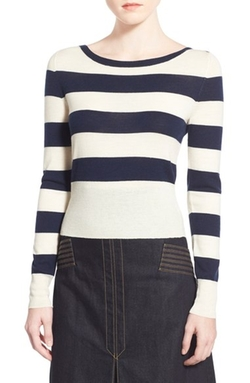 Stripe Wool & Cashmere Sweater by Olivia Palermo + Chelsea28 in Chelsea