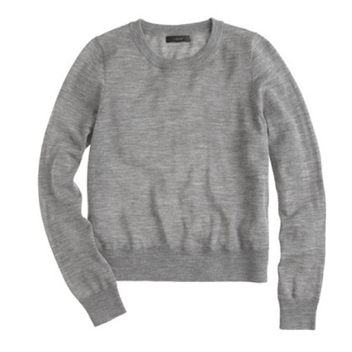 Merino Wool Crewneck Sweater by J. Crew in Supergirl