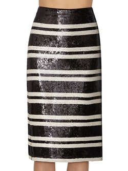Rue Embellished Stripe Pencil Skirt by Alice and Olivia in Mistresses