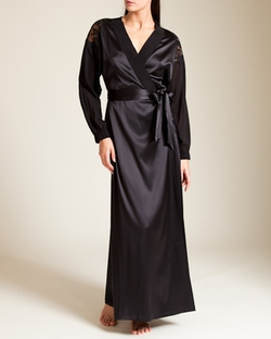 Tulle Ricamato Long Robe by La Perla in By the Sea
