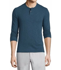 Gaskell Coasting Long-Sleeve Henley Shirt by Theory in Jane the Virgin