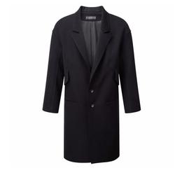 Raw Edge Neoprene Coat by Miguel Antoinne in Suits