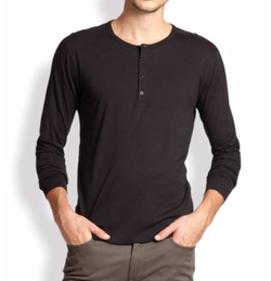 Basic Henley Shirt by Vince in Silicon Valley
