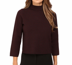 Harmona JH Evian Houndstooth Sweater by Theory in The Good Fight