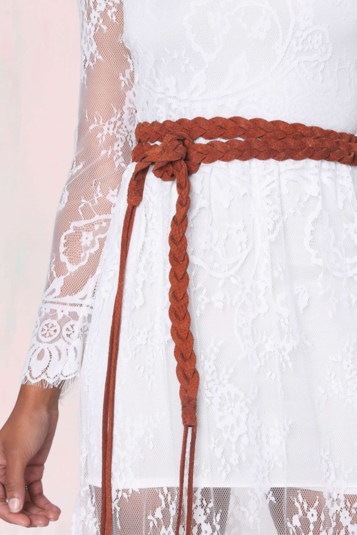 Ada Maria Braided Leather Wrap Belt by Nasty Gal in The Vampire Diaries