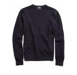 Italian Merino Thermal Crewneck Sweater by Todd Snyder in Jason Bourne