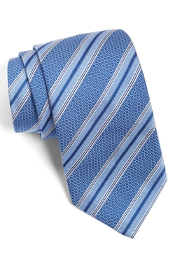Stripe Silk Tie by David Donahue in Billions